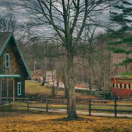 Red Covered Bridge - Merrimack, NH by Joann Vitali