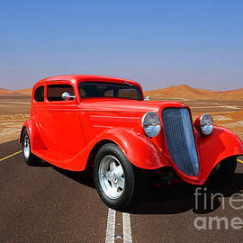 Rock'in Red 1934 Ford   by Thomas Burtney