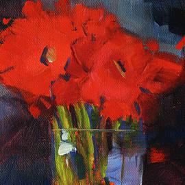 Red Floral by Nancy Merkle