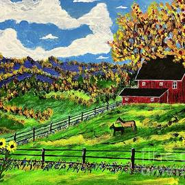 Red Horse Barn by Jeffrey Koss