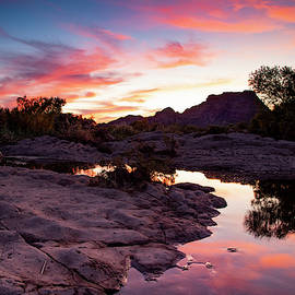 Red Mountain Sunset by Cathy Franklin