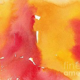 Minimalism Red Orange Yellow Color Field Painting by Sarah Niebank
