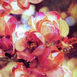 Red Plum Tree Blossoms by Susan Maxwell Schmidt