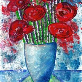 Red Poppies and Rosemary Bouquet  by Ramona Matei