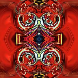 Red Print 1 by Leigh Smith