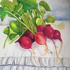 Red Radishes by Nancy Rabe