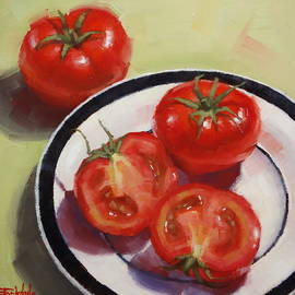 Red Ripe Tomatoes by Margaret Stockdale
