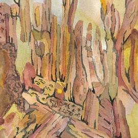 Red Rocks in Sedona by L A Feldstein