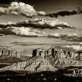 Red Rocks Sepia by Alexey Stiop
