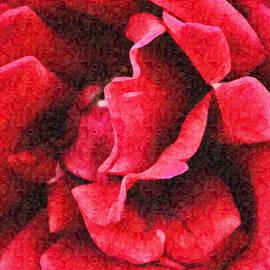 Red Rose Impressionist Portrait by Gaby Ethington