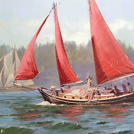 Red Sail Day by Steve Henderson