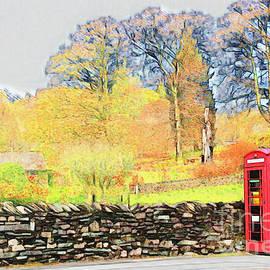 Red Telephone Box in Grasmere  by Loretta S