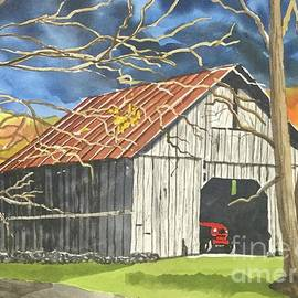 Red Tractor Great Smoky Mountains Tennessee by Mike King