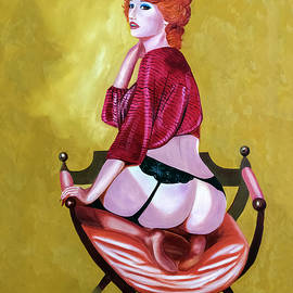 Redhead In Chair Painting by Brian Wallace