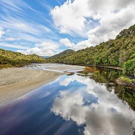 Reflections Along Maori Beach Hike Stewart Island New Zealand by Joan Carroll