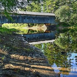Reflections at the Covered Bridge by Steve Brown