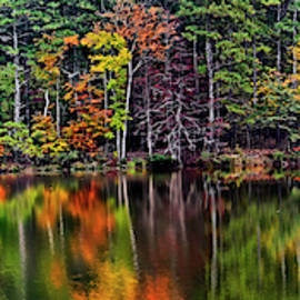 Reflections - Fall Colors 021 by George Bostian