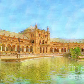Reflections of the Plaza Espana by Mary Machare
