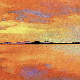 Reflections on a Seaside Sunset by Susan Maxwell Schmidt