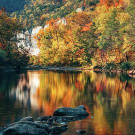 Reflective Autumn At Roark Bluff by Gregory Ballos