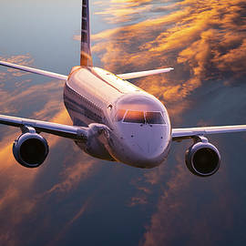 Regional Jet Climbing to Cruise Altitude by Philip Rispin