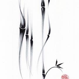 RELAX - Original Sumie Ink Brush Painting  by Rebecca Rees
