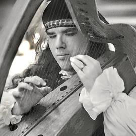 Renaissance Festival Harpist #2 by Jerry Griffin
