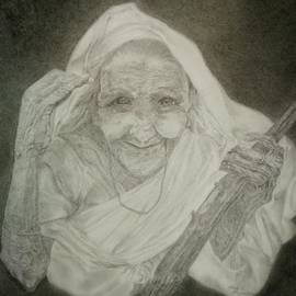 Retired Tea plucker  by Maria Abeyesekere