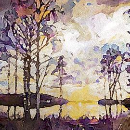 Retreating Woodland Storm by Susan Maxwell Schmidt