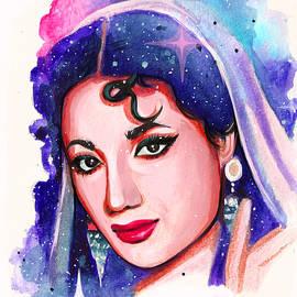 Retro Bollywood - Meena Kumari by Savi Singh