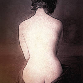 Retro Seated Nude by Susan Maxwell Schmidt