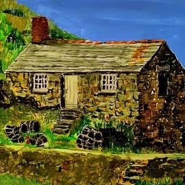 Reverse painting Cornwall  by Karen Harding