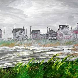 Rhode Island In a Storm by Irving Starr