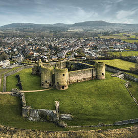 Rhuddlan Castle and Town by Dave Bowman