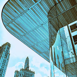 RHYTHM OF THE ROOF Apple Store Chicago  by William Dey