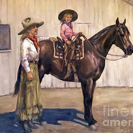 Riding Lesson by Vel Miller