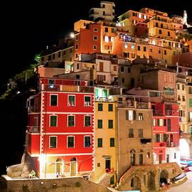 Riomaggiore at Night by Andrew Cottrill