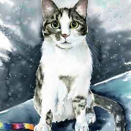 Ripley Cat Painting by Dora Hathazi Mendes