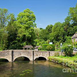 River Coln in Bibury, Cotswolds, Gloucestershire, England by Neale And Judith Clark