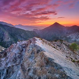 River Dilar Valley. Purple sunset. Sierra Nevada National Park by Guido Montanes Castillo
