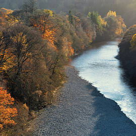 River Garry at Autumn by Dave Bowman