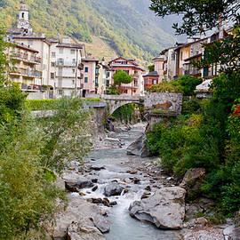 River Mera, Chiavenna, Lombardy, Italy by Joe Vella