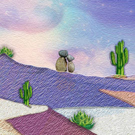 River Rock Art - Desert by Mary Poliquin - Policain Creations