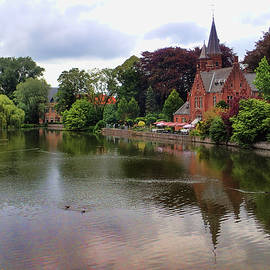 River scenic in Bruges Belgium by David Smith