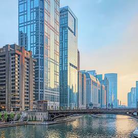 Riverwalk Along the Chicago River 2 by Helen Filatova