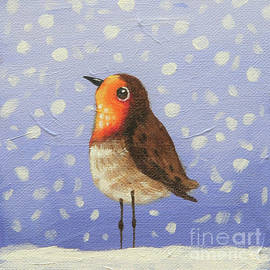 Robin in the Snow by Lucia Stewart