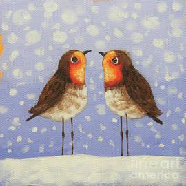 Robin Pair by Lucia Stewart