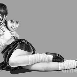 Robot girl drawing by Murphy Art Elliott