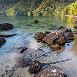Rock hopping at Chilliwack Lake by Pierre Leclerc Photography