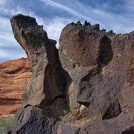 Rock Structures Snow Canyon Utah by Heidi Fickinger
